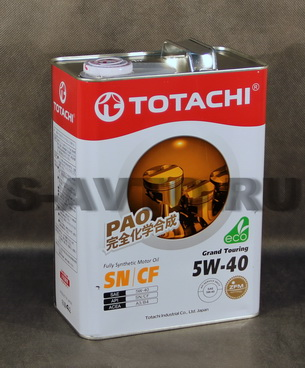 TOTACHI Grand Touring Fully Synthetic SN 5W-40 синт. 4л