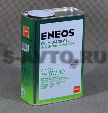 ENEOS CH-4 SYNTHETIC 5W-40 синт. 1л