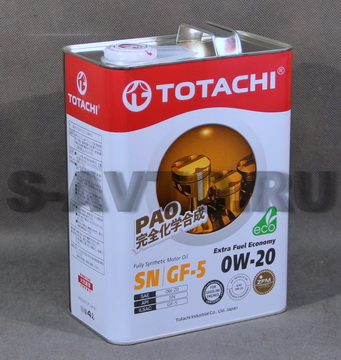 TOTACHI Extra Fuel Fully Synthetic SN 0W-20 синт. 4л